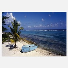 Rowboat on the beach, Grand Cayman, Cayman Islands