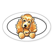 Cocker Spaniel Peeking Bumper Decal