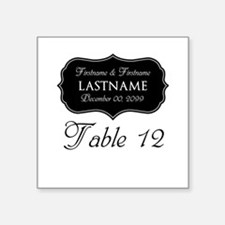 """Table Numbers Sign - custom Square Sticker 3"""" x 3"""""""