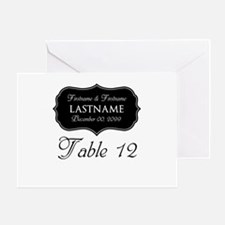 Table Numbers Sign - custom Greeting Card