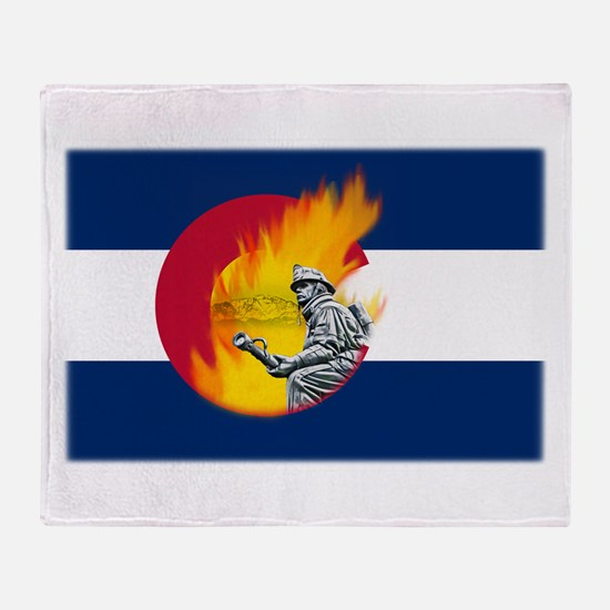 Black Forest Fire, Colorado Springs Throw Blanket