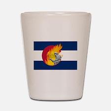 Black Forest Fire, Colorado Springs Shot Glass