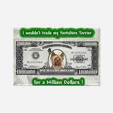 Unique Yorkshire terrier Rectangle Magnet (100 pack)