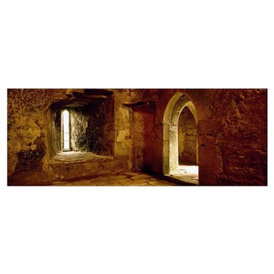 Interiors of a castle, Blarney Castle, Blarney, Co Poster