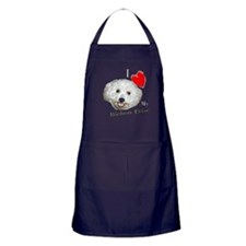 I Love My Bichon Frise Apron (dark)