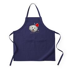 I Love My Bichon Frise Apron (dark)