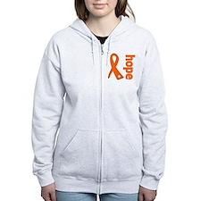 Hope Ribbon Multiple Sclerosis Zip Hoody