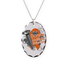 Screw Multiple Sclerosis Necklace Oval Charm