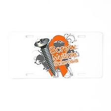 Screw Multiple Sclerosis Aluminum License Plate