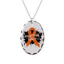 Fighting Back Multiple Sclerosis Necklace Oval Cha