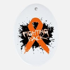 Fighting Back Multiple Sclerosis Ornament (Oval)