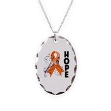 Multiple Sclerosis Hope Necklace Oval Charm