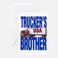 """Trucker's Brother"" Greeting Cards (Pk of 10)"