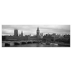 Bridge across a river, Westminster Bridge, Big Ben Poster