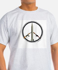 Peace Middle Eastern Style Ash Grey T-Shirt