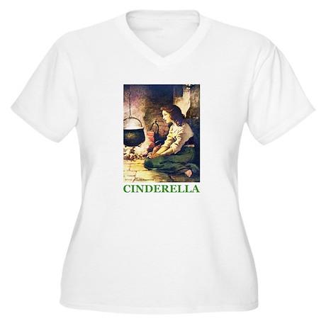 Cinderella Women's Plus Size V-Neck T-Shirt