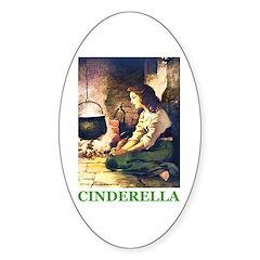 Cinderella Sticker (Oval)