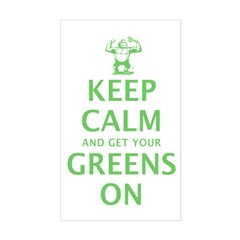 Keep calm in green Decal
