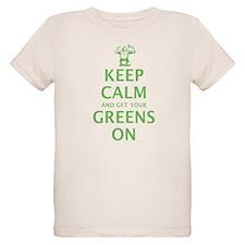 Keep calm in green Organic Kids T-Shirt