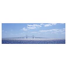 Bridge across a bay, Sunshine Skyway Bridge, Tampa Poster