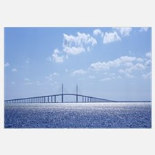 Bridge across a bay, Sunshine Skyway Bridge, Tampa