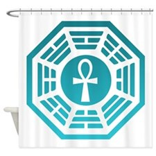 Dharma Blue Ankh Shower Curtain