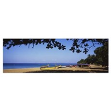 Boats on the beach, Aguadilla, Puerto Rico Poster