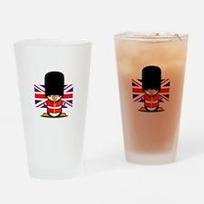 British Soldier Penguin Drinking Glass