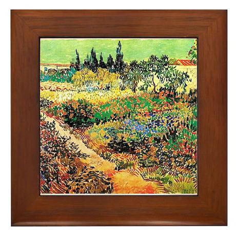 Flowering Garden with Path Framed Tile