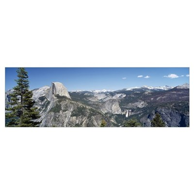 High angle view of a mountain range, Half Dome, Ne Canvas Art