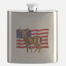 American White Tail Deer Buck Flask