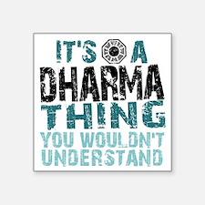 """Dharma Thing Square Sticker 3"""" x 3"""""""