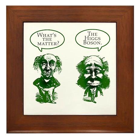 Higgs Boson Humor Framed Tile