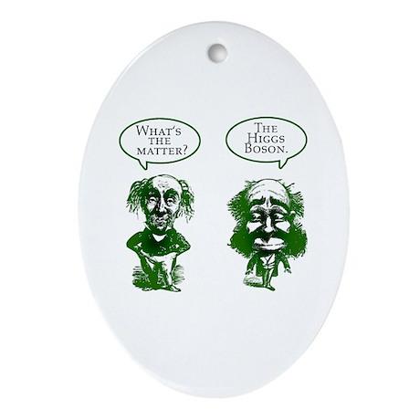 Higgs Boson Humor Ornament (Oval)