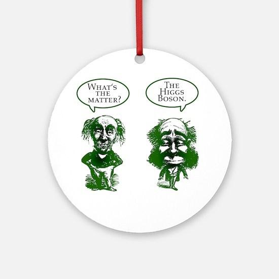 Higgs Boson Humor Ornament (Round)