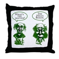 Higgs Boson Humor Throw Pillow