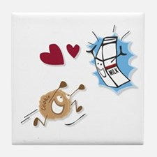 Milk and Cookies Tile Coaster