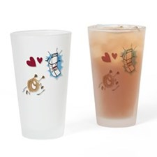 Milk and Cookies Drinking Glass