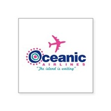 """Oceanic Airlines Square Sticker 3"""" x 3"""""""