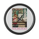 Goldilocks Large Wall Clock