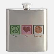 Peace Love Basketball Flask