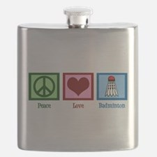 Peace Love Badminton Flask