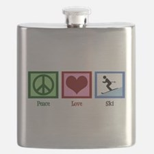 Peace Love Ski Flask