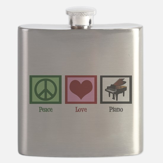 Peace Love Piano Flask