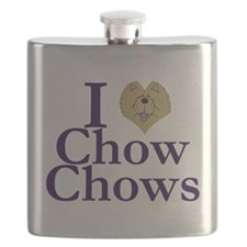 I Heart Chows Flask