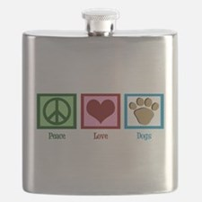 Peace Love Dogs Flask