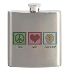 Peace Love Chow Flask