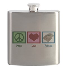 Peace Love Falcons Flask
