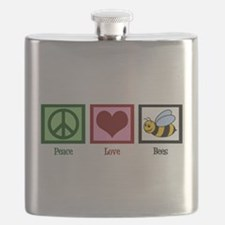 Peace Love Bees Flask