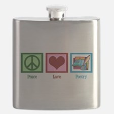 Peace Love Poetry Flask